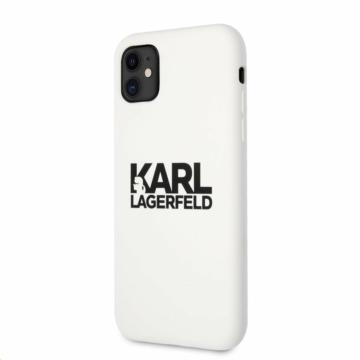 Apple iPhone 11 KARL LAGERFELD (KLHCN61SLKLWH) liquid szilikon hátlap - fehér