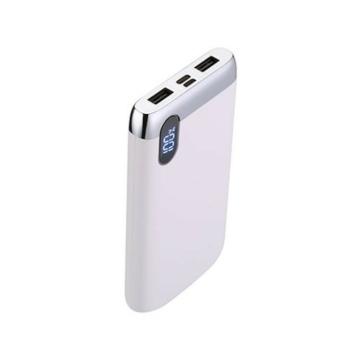 Joyroom D-M194 Elegance 10000 mAh Powerbank - Fehér - Digitális Kijelzés