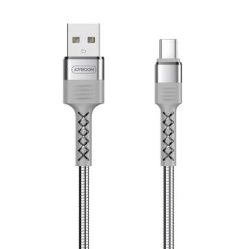 Joyroom S-M363 King Kong USB Type-C 1,2 M Adatkábel - Ezüst - Quick Charge/Gyorstöltés