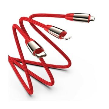 Joyroom S-M390 Zodiac 3in1 1,2 M Adatkábel - Piros - Quick Charge/Gyorstöltés