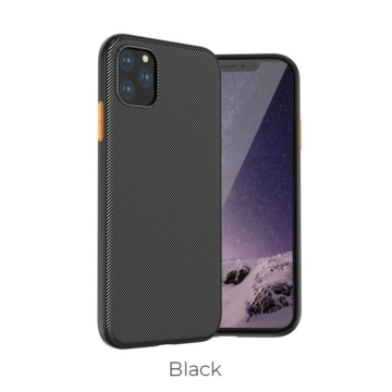 Apple iPhone 11 Pro Max HOCO Star Lord TPU - fekete - Defender/Ütésálló