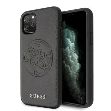 Apple iPhone 11 Pro GUESS GUHCN58RSSASBK Hátlap - fekete