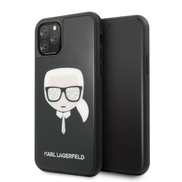 Apple iPhone 11 Pro KARL LAGERFELD KLHCN58DLHBK Hátlap - fekete