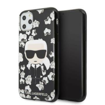 Apple iPhone 11 Pro KARL LAGERFELD KLHCN58FLFBBK Hátlap - fekete