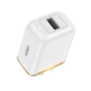 Joyroom L-A12Z 2,4 A 1xUSB hálózati töltőfej + USB Type-C 1 m adatkábel - fehér - Quick Charge/Gyorstöltés