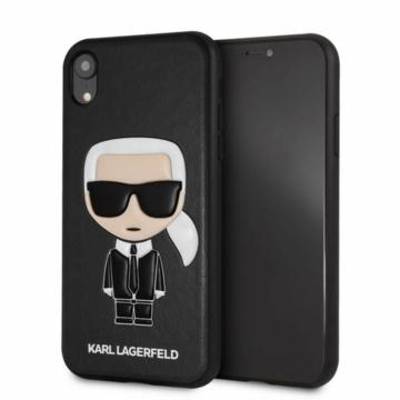 Apple iPhone XR KARL LAGERFELD KLHCI61IKPUBK Bőr Hátlap - fekete