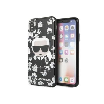 Apple iPhone X/XS KARL LAGERFELD KLHCPXFLFBBK Hátlap - fekete