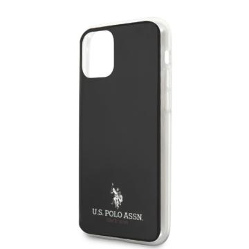 Apple iPhone 12 Mini U. S. Polo USHCP12STUHRBK Hátlap - fekete