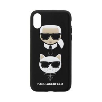 Apple iPhone X/XS KARL LAGERFELD KLHCPXKICKC Hátlap - fekete