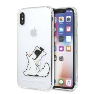 Apple iPhone X/XS KARL LAGERFELD KLHCPXCFNRC TPU Hátlap - átlátszó