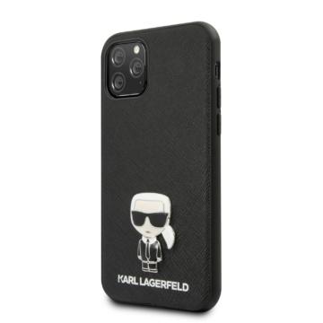 Apple iPhone 11 Pro KARL LAGERFELD KLHCN58IKFBMBK Hátlap - Fekete