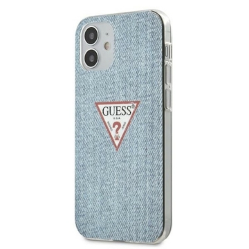 Apple iPhone 12 Pro Max GUESS GUHCP12LPCUJULLB Hátlap - kék