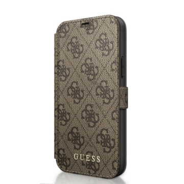Apple iPhone 12 Mini GUESS GUFLBKSP12S4GB Könyvtok - Barna