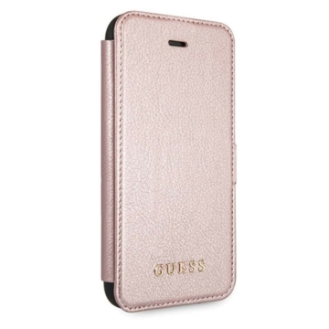 Apple iPhone 12 Mini GUESS GUFLBKSP12SIGLRG Könyvtok - Rose Gold