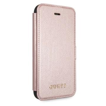 Apple iPhone 12/12 Pro GUESS GUFLBKSP12MIGLRG Könyvtok - rose gold