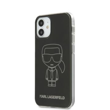 Apple iPhone 12 Mini KARL LAGERFELD KLHCP12SPCUMIKBK TPU Hátlap - fekete