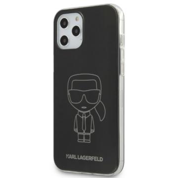 Apple iPhone 12 Pro Max KARL LAGERFELD KLHCP12LPCUMIKBK TPU Hátlap - fekete