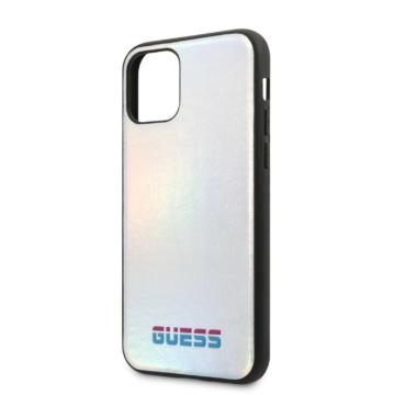 Apple iPhone 11 Pro Max GUESS GUHCN65SBLD Hátlap - ezüst