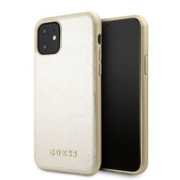 Apple iPhone 11 Pro Max GUESS GUHCN65IGLGO Bőr Hátlap - arany