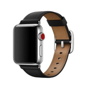 Apple Watch bőr szíj Fekete. 42/44mm