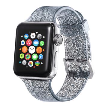 Apple Watch csillámos szíj - fekete - 42 mm/44 mm