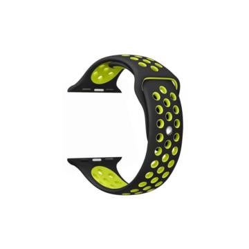 Apple Watch lélegző sportszíj - fekete/zöld - 38 mm/40 mm