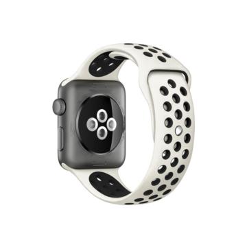 Apple Watch lélegző sportszíj - szürke/fekete - 42 mm/44 mm