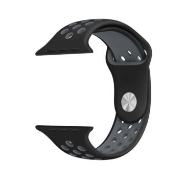 Apple Watch lélegző sportszíj - fekete/szürke - 38 mm/40 mm
