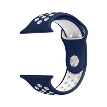 Apple Watch lélegző sport szíj Kék/Fehér 42/44m