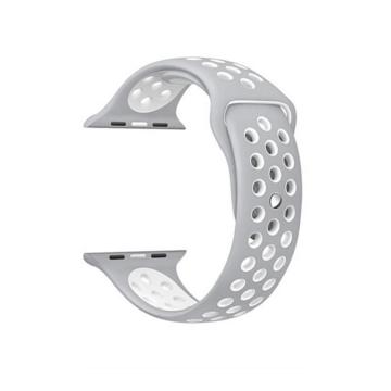 Apple Watch lélegző sportszíj - szürke/fehér - 38 mm/40 mm