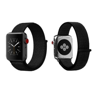 Apple Watch tépőzáras szíj Fekete 42/44mm