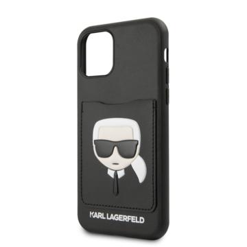 Karl Lagerfeld tok fekete (KLHCN58CSKCBK) Apple Iphone 11 Pro készülékhez