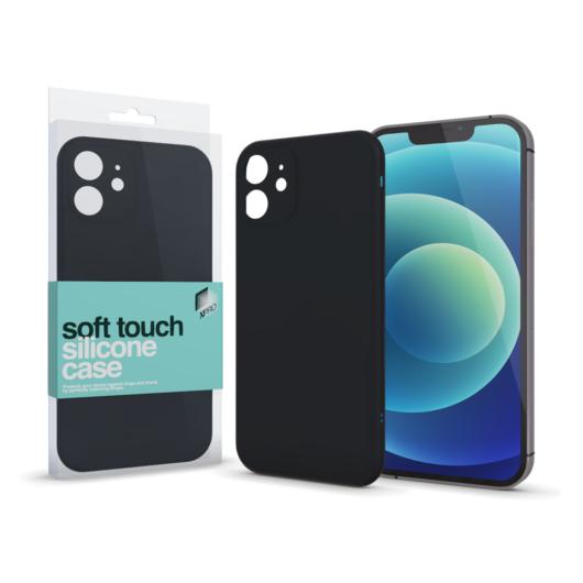 Soft Touch vékony szilikon tok - fekete - Iphone Xs Max készülékhez