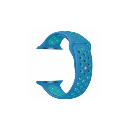 Apple Watch lélegző sportszíj - kék/türkiz - 42 mm/44 mm