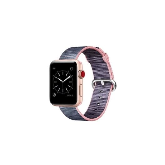 Apple Watch szőtt műanyag szíj - lila - 42 mm/44 mm