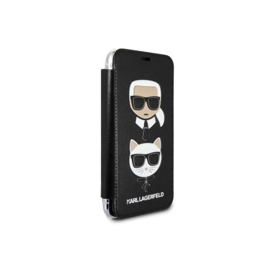 Apple iPhone XS Max KARL LAGERFELD KLFLBKI65KICKC Hátlap - Fekete