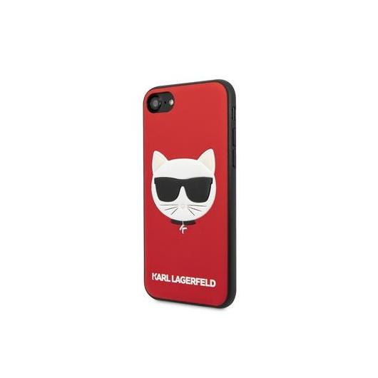 KARL LAGERFELD iPhone 7/8/SE (2020) tok (KLHCI8GLRE) - piros