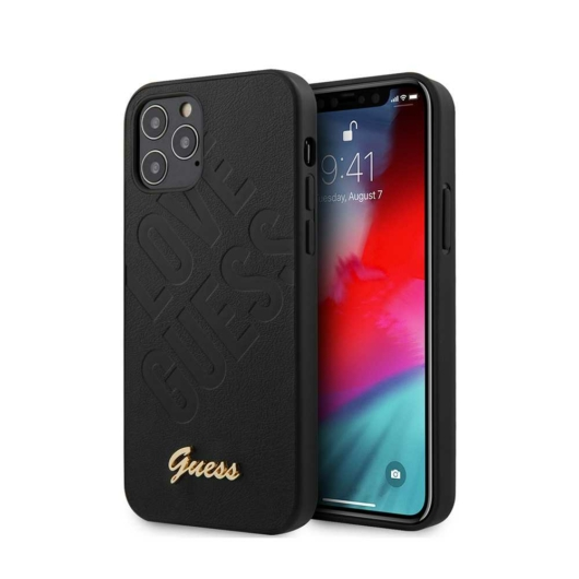 Apple iPhone 12 Pro Max GUESS GUHCP12LPUILGKB Hátlap