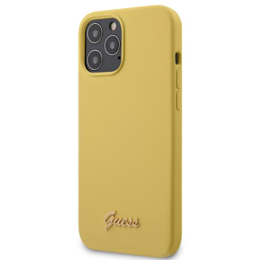 "GUESS iPhone 12 Pro Max tok 6,7"" (GUHCP12LLSLMGYE) - sárga"