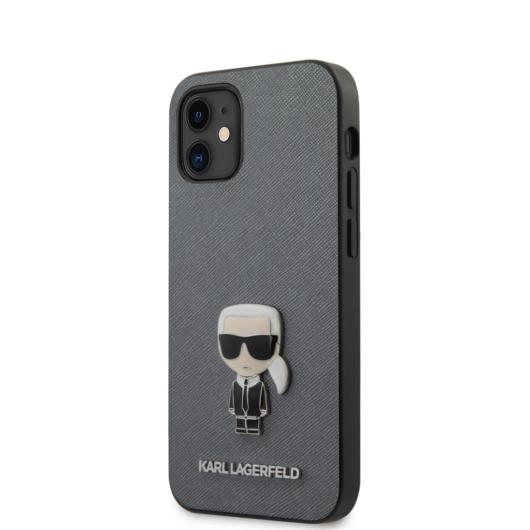"KARL LAGERFELD iPhone 12 Mini tok 5,4"" (KLHCP12SIKMSSL) - ezüst"