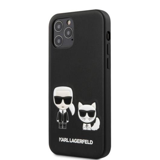 "KARL LAGERFELD iPhone 12/12 Pro tok 6,1"" (KLHCP12MPCUSKCBK) - fekete"