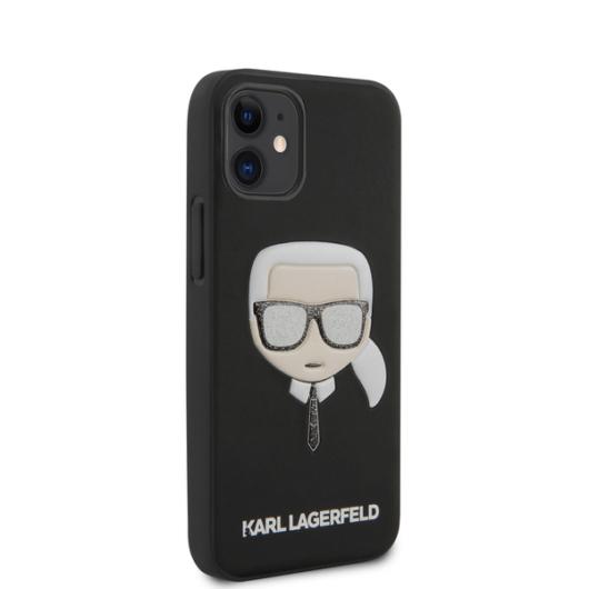 """KARL LAGERFELD iPhone 12 Mini tok 5,4"""" (KLHCP12SGLBK) - fekete"""