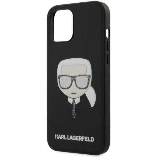 """KARL LAGERFELD iPhone 12 Pro Max tok 6,7"""" (KLHCP12LGLBK) - fekete"""