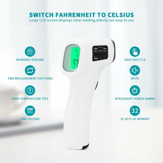 JRTYL Érintés nélküli infravörös hőmérő  - fehér