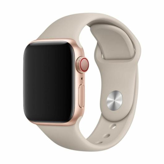 DEVIA Apple watch Deluxe Series Sport Band 42/44 mm óraszíj - stone