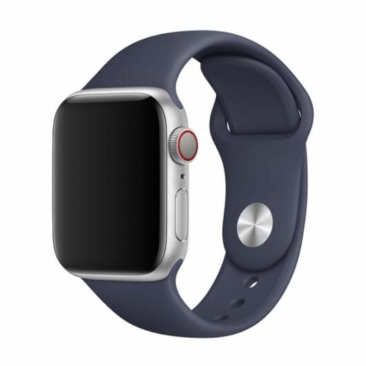 DEVIA Apple watch Deluxe Series Sport Band 42/44 mm óraszíj - éjkék