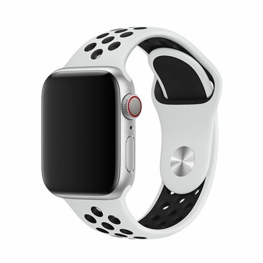 DEVIA Apple watch Deluxe Series Sport 2 Band 38/40 mm óraszíj - fehér