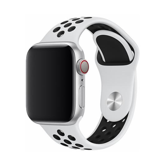 DEVIA Apple watch Deluxe Series Sport 2 Band 42/44 mm óraszíj - fehér