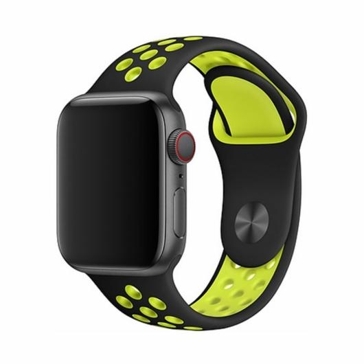 DEVIA Apple watch Deluxe Series Sport 2 Band 42/44 mm óraszíj - sárga