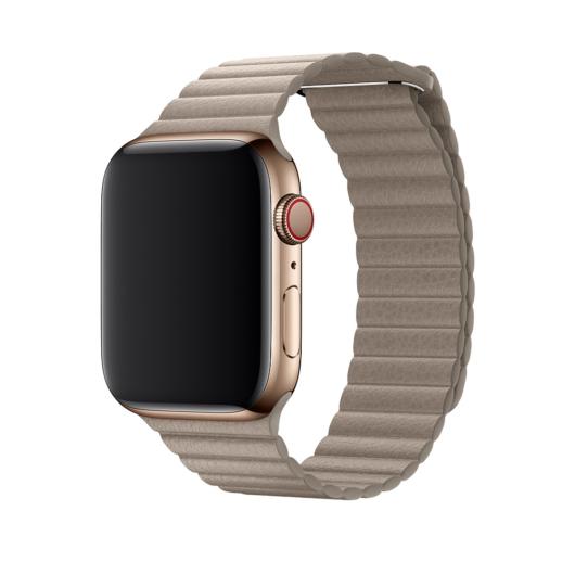 DEVIA Apple Watch Elegant Leather Loop 38/40 mm óraszíj - stone